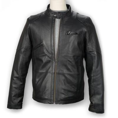 IMSA Lambskin Leather Driving Jacket- Black