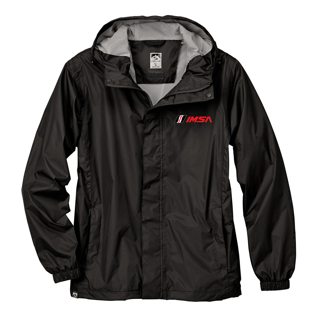 IMSA Waterproof Rain Jacket - Black/Grey