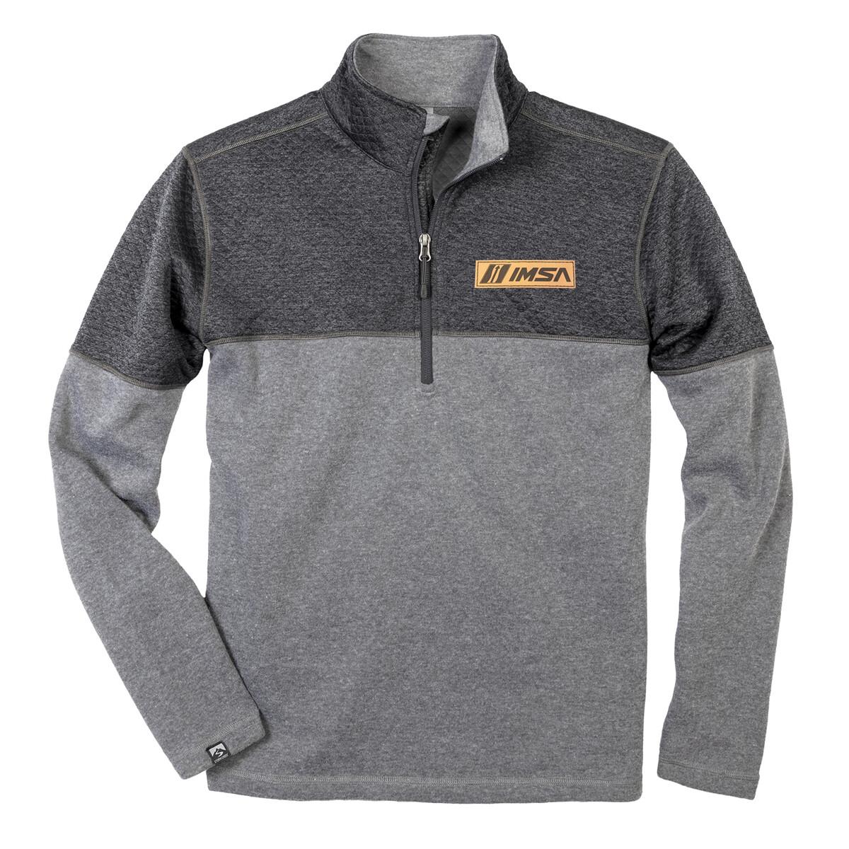 IMSA Diamond Fleece 1/4 Zip Pullover - Grey