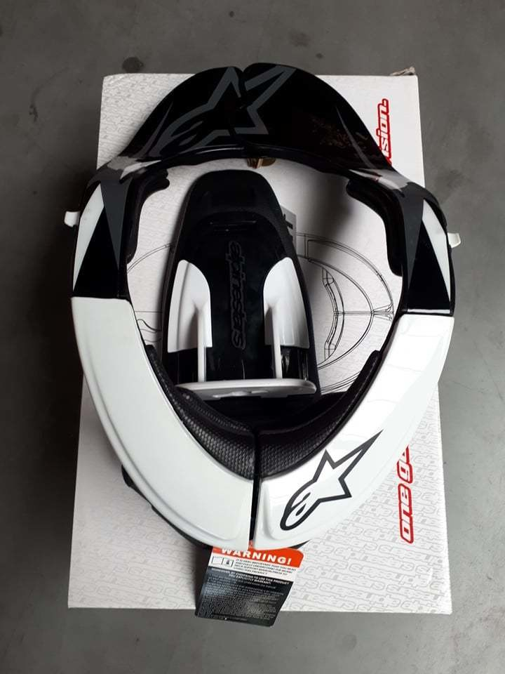 Neckbrace Alpinestar wit/zwart