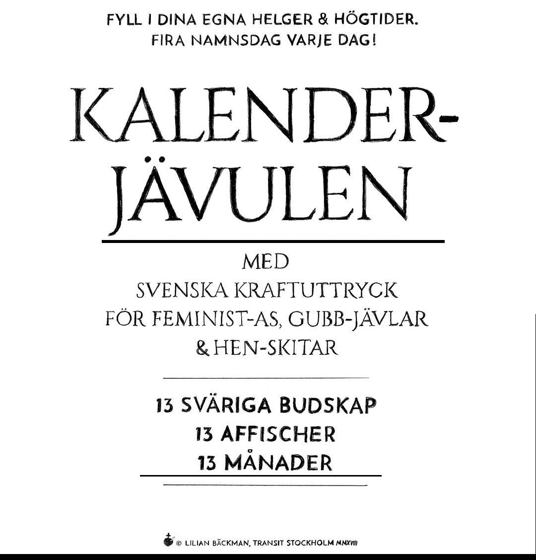 KALENDERJÄVULEN 1