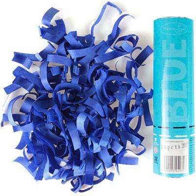 Хлопушка Голубое конфетти 20см