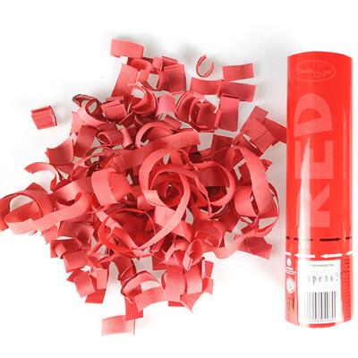 Хлопушка Красное конфетти 20см