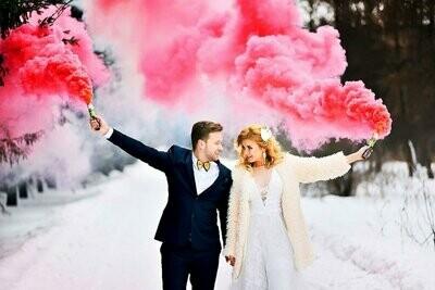Цветной дым ( розовый )
