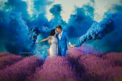 Цветной дым ( синий )