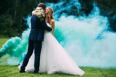 Цветной дым ( зеленый )