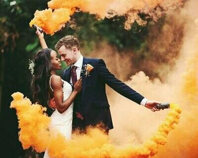 Цветной дым ( оранжевый )