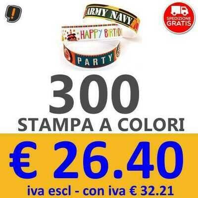 Braccialetti Stampa a Colori 300 pz