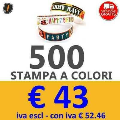 Braccialetti Stampa a Colori 500 pz