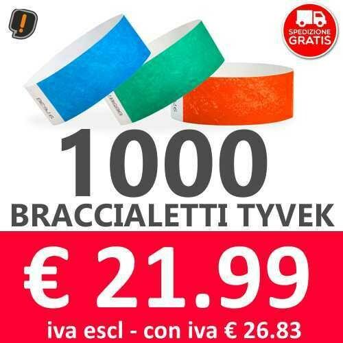 1000 Braccialetti Tyvek® - SPEDIZIONE GRATIS
