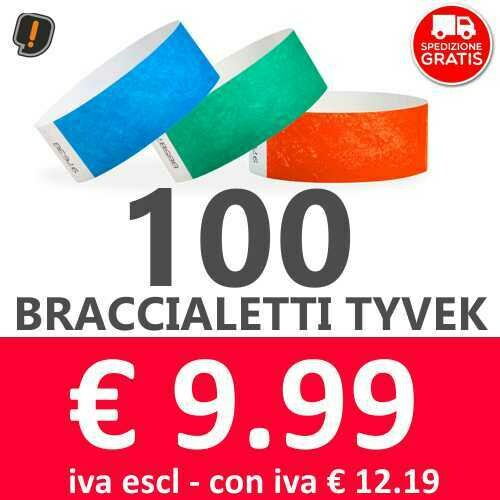 100 Braccialetti Tyvek® - SPEDIZIONE GRATIS