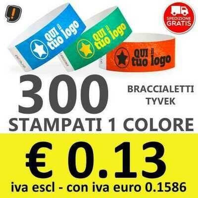 300 Braccialetti Tyvek® con Stampa - SPEDIZIONE GRATIS