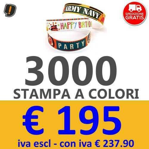 Braccialetti Stampa a Colori 3000 pz