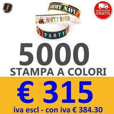 Braccialetti Stampa a Colori 5000 pz