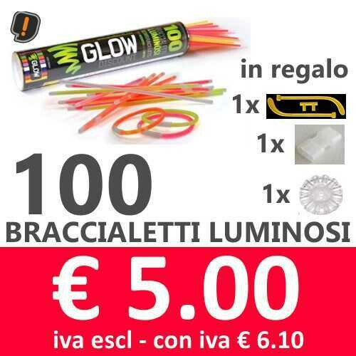 🔥 Braccialetti Luminosi 100 pz