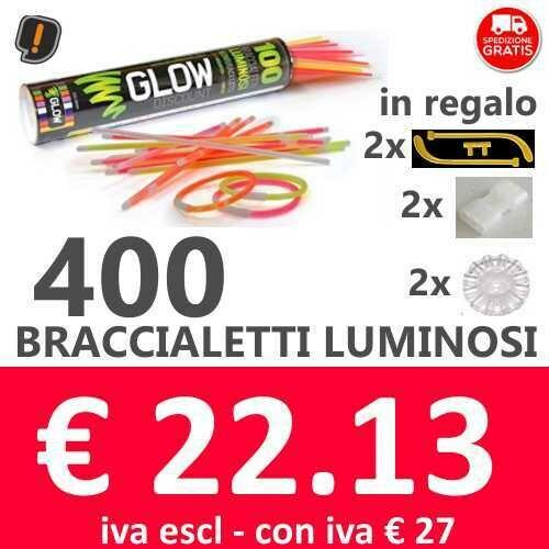 🔥 Braccialetti Luminosi 400 pz SPEDIZIONE GRATIS