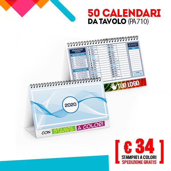✔ Calendari da Tavolo Personalizzati 50/100 pz SPED GRATIS