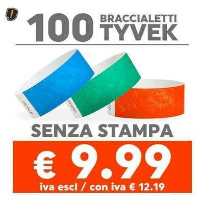 🔝 100 Braccialetti Tyvek® - SPEDIZIONE GRATIS
