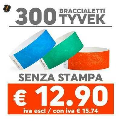 300 Braccialetti Tyvek® SPEDIZIONE GRATIS