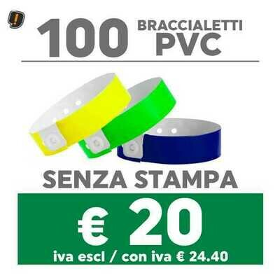 🔝 100 Braccialetti Pvc - SPEDIZIONE GRATIS
