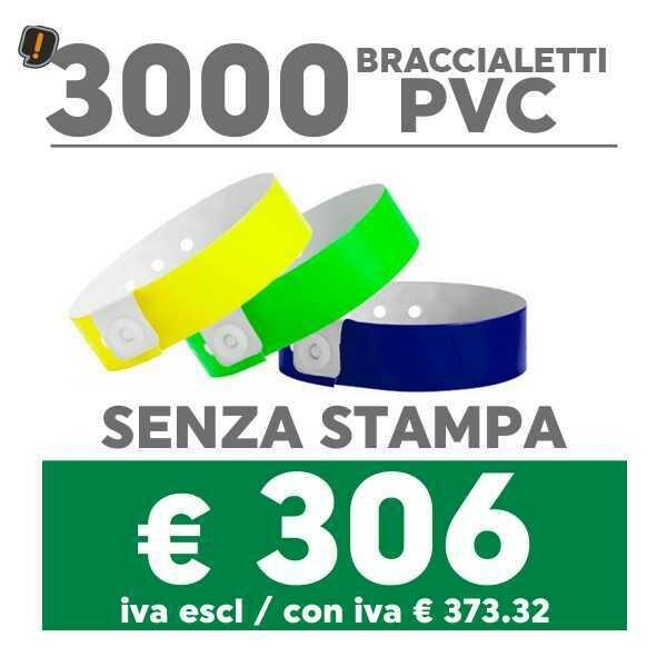 🔝 3000 Braccialetti Pvc - SPEDIZIONE GRATIS