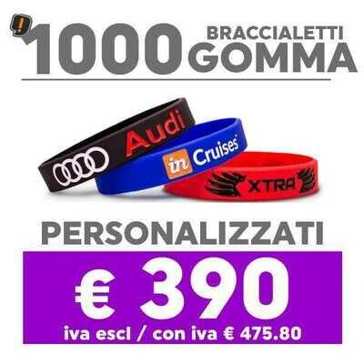🔥 1000 Bracciali Gomma Personalizzati SPED GRATIS