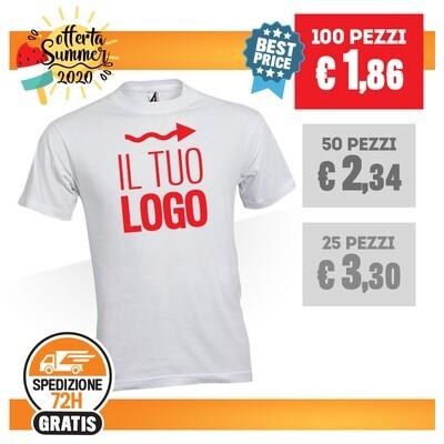 ✔ T-Shirt Bianca Personalizzata SPEDIZIONE GRATIS