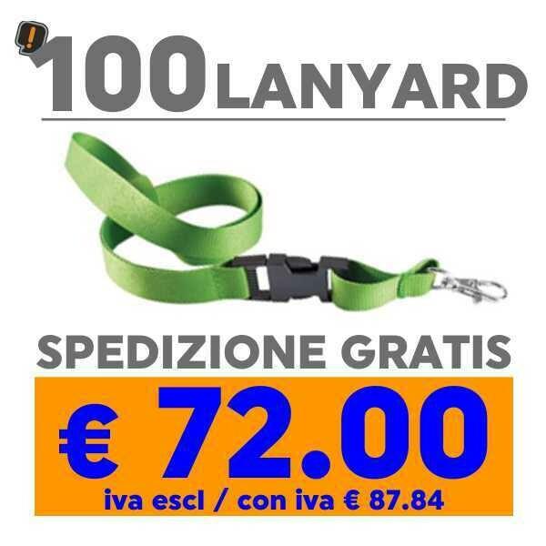Lanyard 100 pz SPEDIZIONE GRATIS