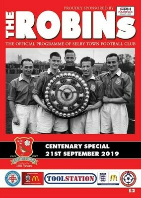 Selby Town Centenary Programme with Delivery