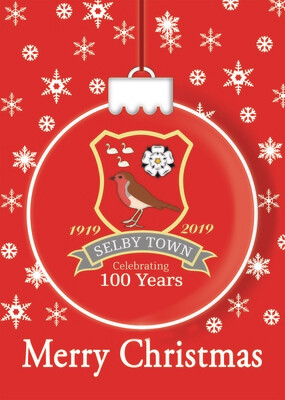 Selby Town Christmas Card x 1 - PICK UP FROM GROUND