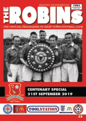 Selby Town Centenary Programme PICK UP FROM GROUND