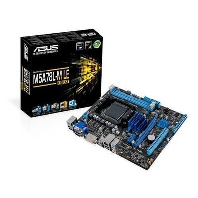 Материнская плата ASUS M5A78L-M LE/USB3 <Socket-AM3+, AMD 760G, 2xDDR3, 4xSATA (Raid 0/1/10/JBOD) ,PCI+ PCI-E+ PCI-E 16x, PS/2, COM, DVI+ VGA, 4xUSB, 3xAudio (8Ch), GLan> mATX, RTL