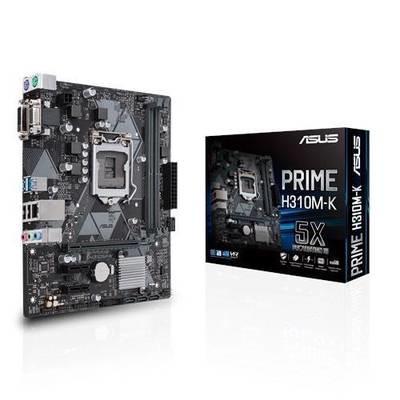 Материнская плата ASUS PRIME H310M-K <Socket-1151v2, Intel H310, 2xDDR4, 2xPCI-E+ PCI-E 16x, 4xSATA, DVI+ VGA, 2xPS/2, 4xUSB, 3xAudio (8Ch), GLan> mATX, RTL
