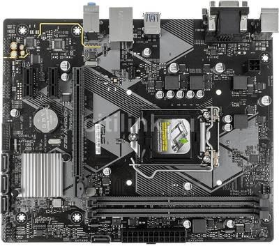 Материнская плата ASUS PRIME H310M-K R2.0 <LGA-1151v2, Intel H310, 2xDDR4, PCI-E+ PCI-E 16x, DVI+ VGA, 2xPS/2 4xUSB, 8xAudio (8Ch), GLan> mATX, RTL