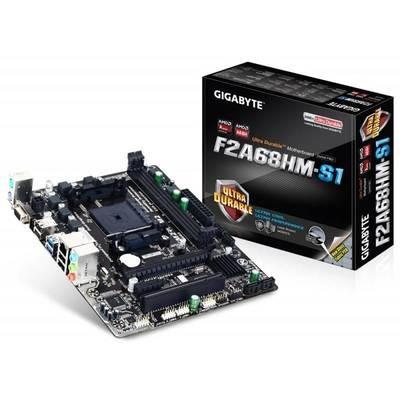 Материнская плата GIGABYTE GA-F2A68HM-S1 <Socket-FM2, AMD A68H, 2xDDR3, PCI+ PCI-E+ PCI-E 16x, 4xSATA (Raid 0/1/10/JBOD), VGA, 2xPS/2, 6xUSB, 3xAudio (8Ch), GLan> mATX, RTL