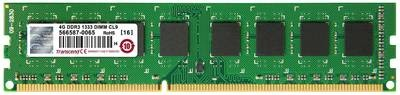 Модуль памяти Transcend 4GB U-DIMM DDR3, 1333МГц, 2Rx8, 1.5V