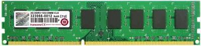 Модуль памяти Transcend 2GB U-DIMM DDR3, 1333МГц, 2Rx8, 1.5V
