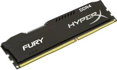 Модуль памяти Kingston 4GB 2666МГц DDR4 CL15 DIMM HyperX FURY Black