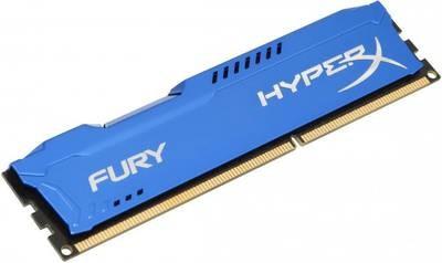 Модуль памяти Kingston 8GB 1600МГц DDR3 CL10 DIMM HyperX FURY Blue 1.5V