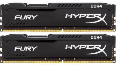 Модуль памяти Kingston 8GB 2400МГц DDR4 CL15 DIMM (Kit of 2) HyperX FURY Black