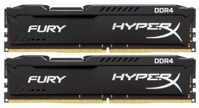 Модуль памяти Kingston 8GB 2666МГц DDR4 CL15 DIMM (Kit of 2) HyperX FURY Black