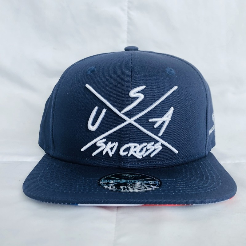 Blue Flat Brim Hat