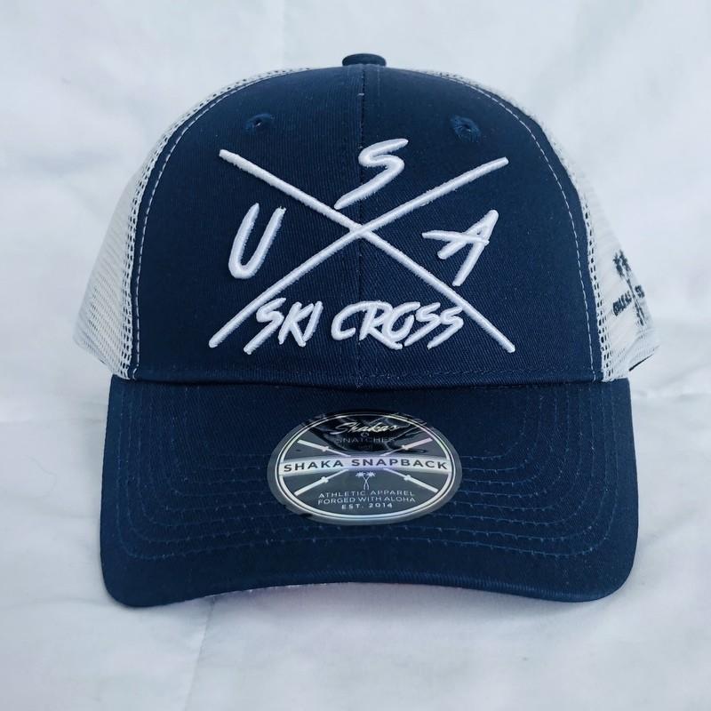 Blue & White Mesh Baseball Hat