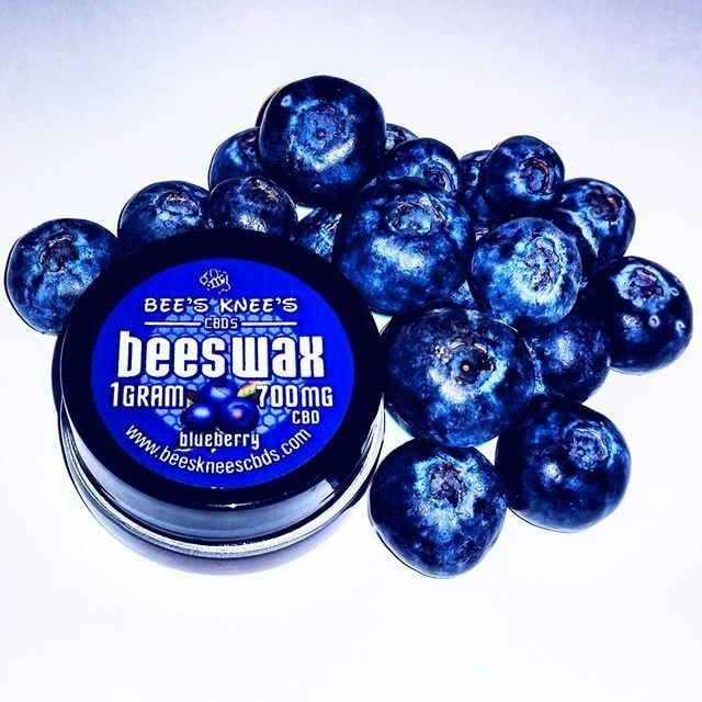 900 mg of CBD Dab Wax Blueberry Flavor