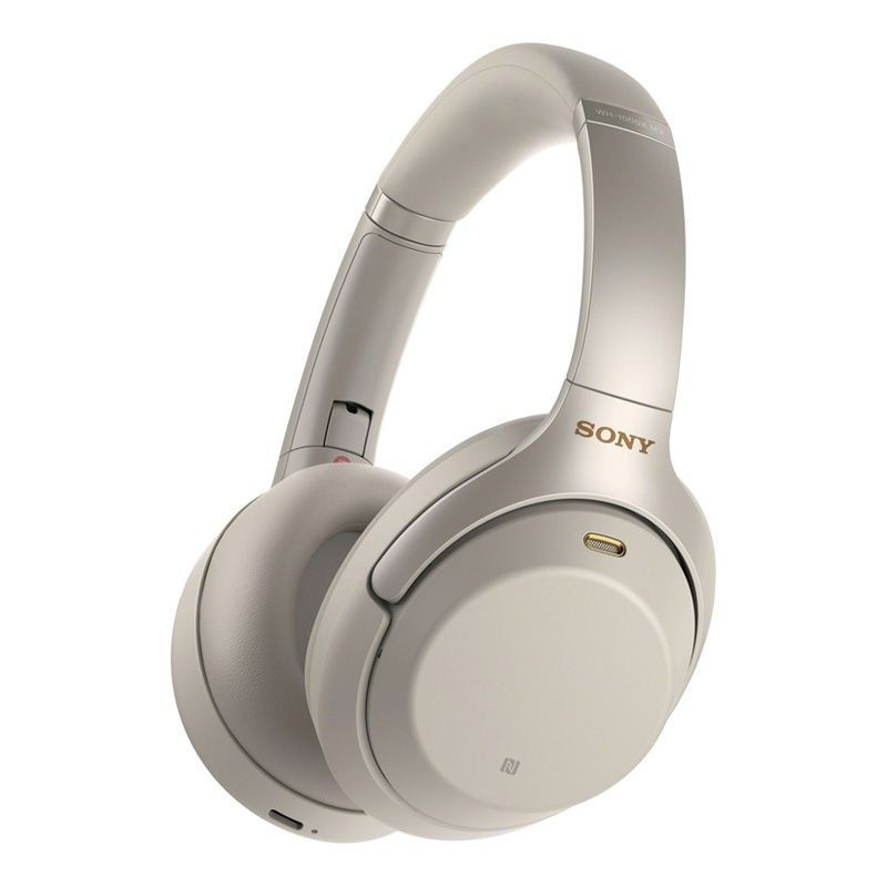 Sony Noise Cancelling Headphones - Silver