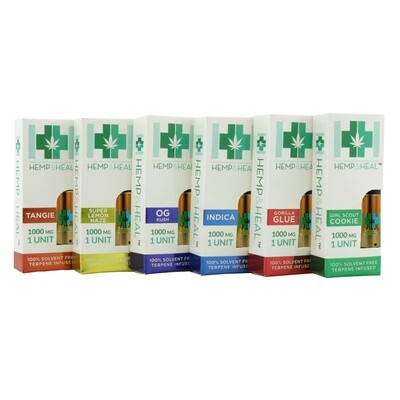 Hemp&Heal 1000mg Vape Cartridges