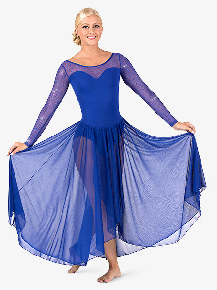 TWINKLE MESH LONG SLEEVE DRESS