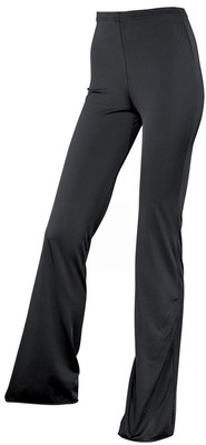 LADIES BLACK LYCRA FLARE PANTS