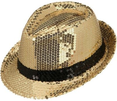 SHINY SEQUIN FEDORA HAT