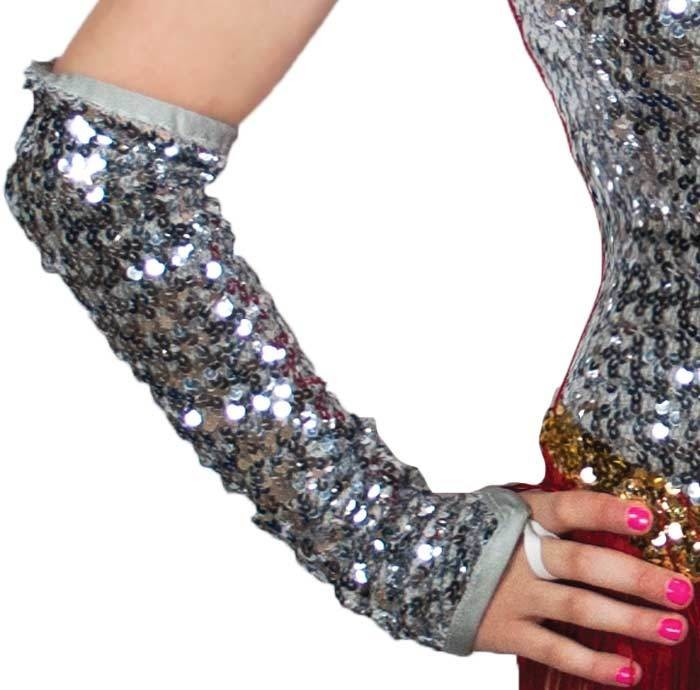 SEQUIN ABOVE THE ELBOW GAUNTLETS